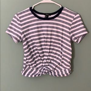 Forever 21 stripped tie shirt